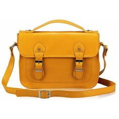 Retro Style Satchel Yellow, £60, now featured on Fab.