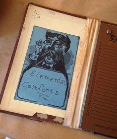 6 Mustache Man-Custom Bookplate-Ex Libris-Name plate-Custom
