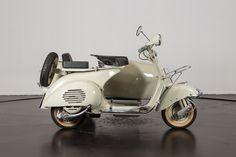 1955 Piaggio Vespa Struzzo Sidecar | Classic Driver Market Vespa 150, Sidecar, Microcar, Piaggio Vespa, Motorcycle, Bike, Classic, Vehicles, Cars