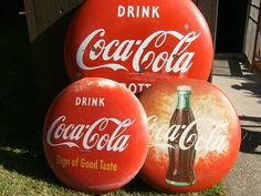 Coke/ We have a couple of these Button signs in great condition