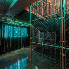 « Newer story Older story »   Studio C102 designs underground 1Rebel gym to look like a nightclub Flip 21 November 2015 | 1 comment Categories: ~Studio C102 wants to make going to the gym feel like a night out, so fitted out this London basement with neon lighting, black walls and a pop-up bar ...