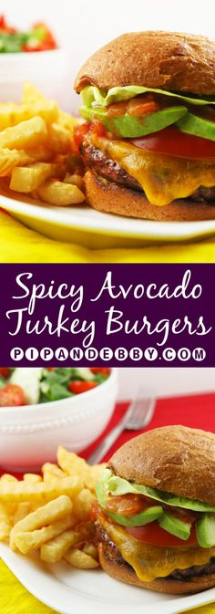 Spicy Avocado Turkey Burgers | Spruce up your dinner with this healthy, delicious little burger!