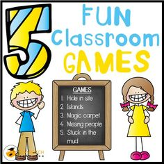 5 fun classroom games you can use to help re-energize and engage your students to get them ready for learning again.