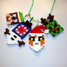 Stampylongnose Inspired Holiday Necklace With His Friends: iBallistic Squid, L for Lee, Amy Lee! Great Christmas gift! by HenrysMarketplace on Etsy https://www.etsy.com/listing/206324937/stampylongnose-inspired-holiday-necklace