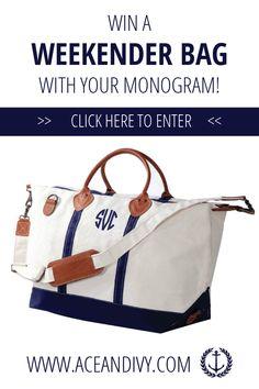 The Monogrammed Weekender Bag GIVEAWAY!