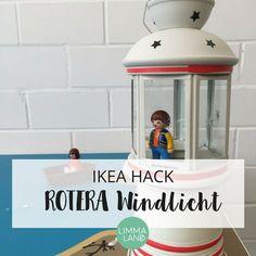 Aus dem IKEA ROTERA Windlicht kann man richtig tolle IKEA Hacks und schöne Bastelideen selber machen. Hier findet ihr schöne DIY Ideen für das Kinderzimmer und Wohnzimmer.