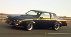Buick Grand National/GNX ~ Available from 1982 to 1987, and based on the otherwise forgettable General Motors G-Body Buick Regal coupe, the Grand National, with the exception of its initial production year, was available in any color you liked so long as it was black