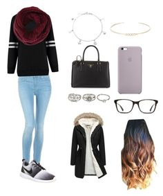 The Devil Wears Prada♥️ by arisac on Polyvore featuring polyvore, fashion, style, Hudson Jeans, NIKE, Prada, Aéropostale, Bling Jewelry, Feathered Soul, BCBGMAXAZRIA, GlassesUSA and clothing