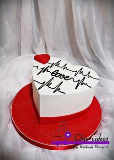 Cake heart Happy Anniversary Cakes, Wedding Anniversary, Birthday Cake For Mom, Birthday Cakes, Heart Cakes, Cupcake Cookies, Cupcakes, Birthday Cake Decorating, Cake Shop
