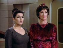 Lwaxana Troi and daughter Deanna from Star Trek: The Next Generation