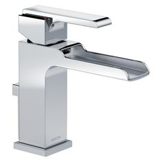 delta ara singlehole lavatory faucet with channel spout by delta faucets