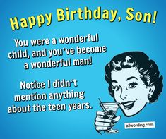 Looking for a unique way to say Happy Birthday to your son? This list of birthday wishes for a son has messages that range from heartfelt to humorous. 18th Birthday Quotes Funny, Happy 18th Birthday Quotes, Birthday Messages For Son, Birthday Wishes For Son, Funny Happy Birthday Wishes, Birthday Quotes For Daughter, Happy Birthday Friend, Sons Birthday, Funny Birthday Cards