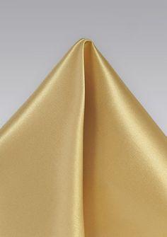 Einstecktuch italienische Seide einfarbig  gold-hell