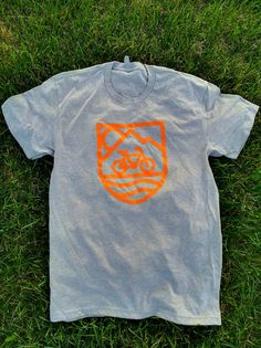 Bicycle Nomad Orange Logo T-shirt   Bicycle Nomad