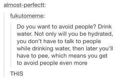 Avoiding people, funny relatable tumblr text post