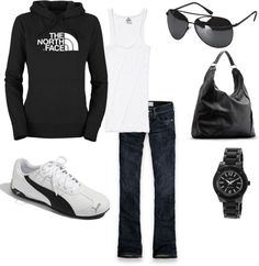 """North Face"" casually comfy weekend wear  by rachel-norris on Polyvore"