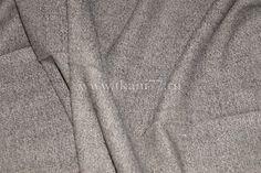 костюмная 40718074. шерсть 60 шелк 20 п/э 17 эластан 3 ш 140 Италия средней плотности костюмная елочка цвет бежево-коричневая остаток 1м. 700
