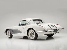1958 Chevrolet Corvette C-1 (J800-867) muscle supercar retro hd