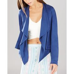 BCBGMAXAZRIA Donnie Drape Front Jacket ($119) ❤ liked on Polyvore
