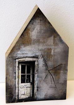 Saskia Obdeijn - oak wood print and acrylic Clay Houses, Ceramic Houses, Miniature Houses, Bird Houses, Wooden Houses, New York Loft, Driftwood Art, House In The Woods, Little Houses