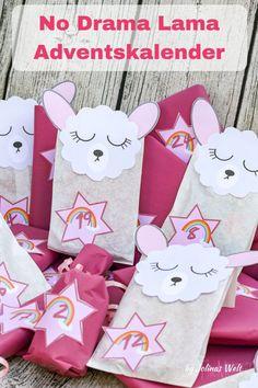 drama movie No Drama Lama Adventskalender. Alpacas, Party Gift Bags, Party Gifts, Diy Gifts, Christmas Hacks, Diy Christmas Cards, Handmade Christmas, No Drama Lama, Calendrier Diy