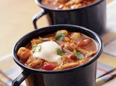 Slow Cooker Chunky Chicken Chili Recipe from Betty Crocker