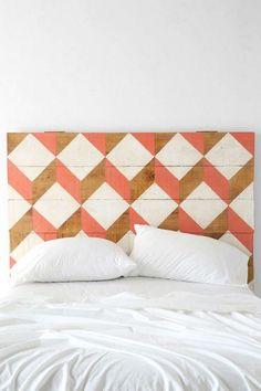 DIY painted headboard #geometric