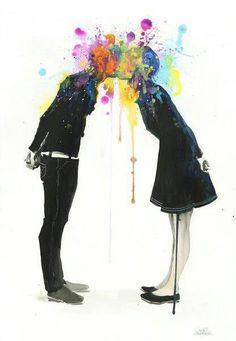 Kissing  art!!