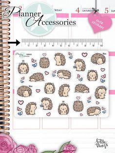 Kawaii Hedgehog Stickers Cute Hedgehog by EmelysPlannerShop