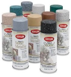 Krylon® Make It Stone!® Metallic Textured Paint - Google Search