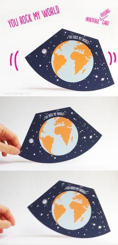 You rock my world - valentine card