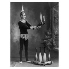 Image of 1800s Circus Print, The Man Who Lights My Fire