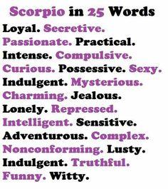 Scorpio in 25 words