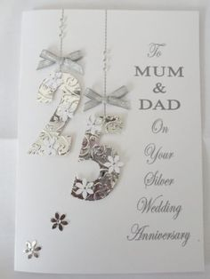 25th Wedding Anniversary Gift Ideas For Parents Australia : ... Anniversary Cards, Anniversaries and Wedding Anniversary Cards