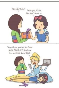 Snow White and apple