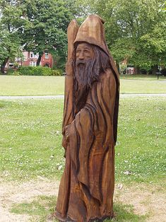 Chainsaw Carved Wizards | The Wizard of Old Moat Park', Manchester.