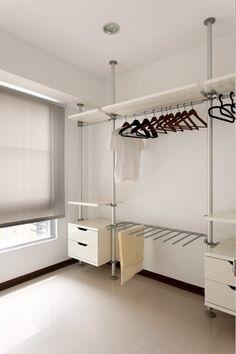 open concept closet system