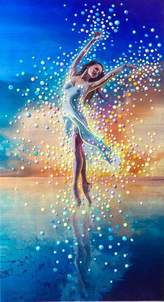 The Energy Art Store By Julia Watkins — Water Dancer - In each of us is a bright and boundless spirit - Print Ballerina Art, Ballet Art, Dance Paintings, Prophetic Art, Art Store, Beautiful Paintings, Art Pictures, Dance Pictures, Amazing Art