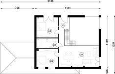 FX-31 - Rzut 1 piętra Modern Family House, Architect House, Floor Plans, Homemade Modern, Modern Homes, Floor Layout, Build House, Floor Plan Drawing, House Floor Plans