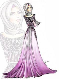 Hijab fashion illustration