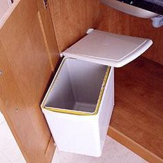 Under Sink Waste Bin, 16 Litre, White - DIY Kitchens