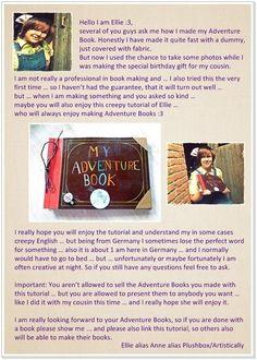 How to make a scrapbook. Adventure Book Up Pixar - Step 1