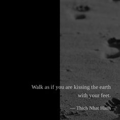 Walk as if you are kissing the earth with your feet. — Thich Nhat Hanh