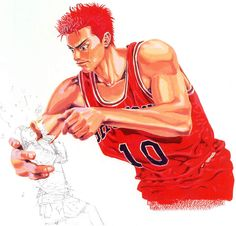 SD Manga Art, Anime Art, Slam Dunk Anime, Inoue Takehiko, Batman Artwork, Comic Movies, Manga Illustration, Slammed, Japanese Art