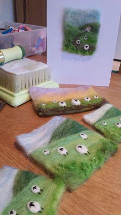 Shropshire-based textile artist and tutor Maxine Smith #felting