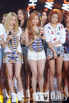 150714 SNSD - Party + No1 @ SBS The Show : Sooyoung, Yoona and Seohyun