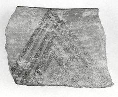 Sherd  Period:Chalcolithic Date:5th–4th millennium B.C. Geography:Iran, Nishapur Culture:Iran Medium:Ceramic Dimensions:2.36 x 0.31 in. (5.99 x 0.79 cm) Classification:Ceramics-Vessels