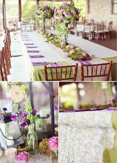 Vintage Romantic Purple & Green Wedding for-ilsa