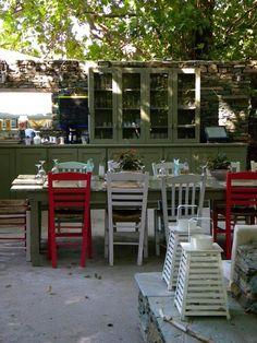 Outdoor kitchen at Onar Resort, Andros, Remodelista