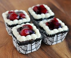 Beautiful Black Forest Brownie Squares from Food Family & Finds.